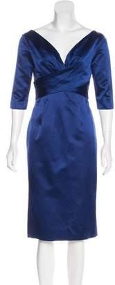 Alexander McQueen Silk Sheath Dress