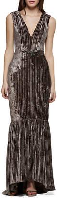 David Meister Sleeveless Velvet & Embellished Gown