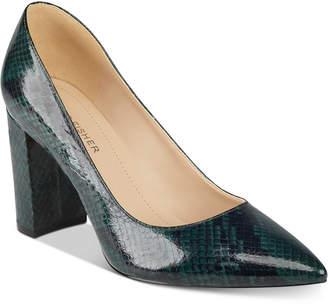 Marc Fisher Viviene Block-Heel Pumps Women Shoes