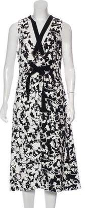 Proenza Schouler Abstract Printed A-Line Dress
