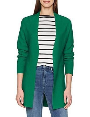 More & More Women's 8155 Regular Fit V-Neck Long Sleeve Cardigan - Green - UK