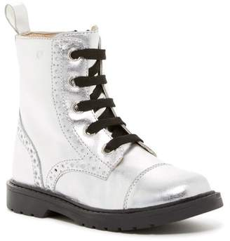 Naturino USA Flash Argent Metallic Brogued Leather Boot (Toddler & Little Kid)