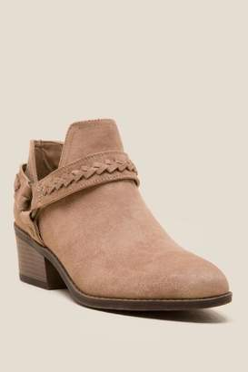 Fergalicious Integrity Side Chopout Ankle Boot - Nude