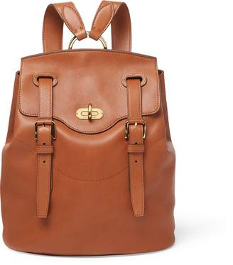 Ralph Lauren Calfskin Turn-Lock Backpack