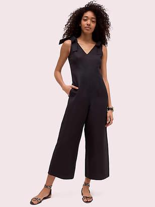 Kate Spade Linen Tie Jumpsuit, Black - Size 0