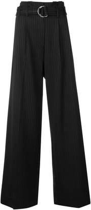 Lee Mathews pinstripe wide leg trousers