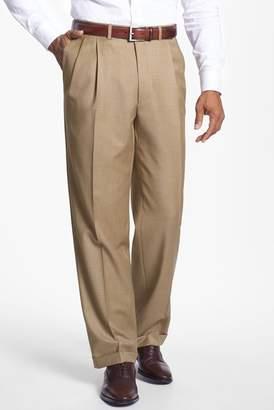 Santorelli Pleated Wool Classic Fit Trouser