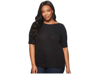 Lauren Ralph Lauren Plus Size Stretch Cotton Boat Neck Tee