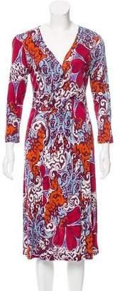 Rena Lange Printed Midi Dress