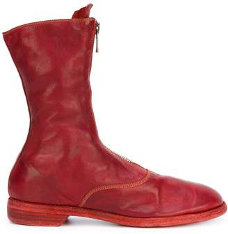 Guidi front zip calf-length boots
