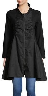 Joan Vass Zip Flared Jacket