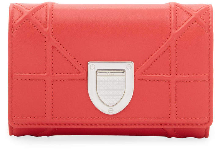 Dior Women's Three-Fold Leather Wallet