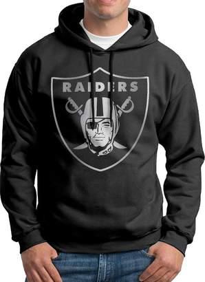 Sarah Men's Oakland Raiders Platinum Logo Hoodie XXL