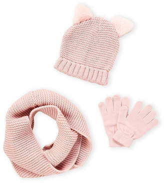 Capelli New York (Girls 4-6x) Cat Ear Hat, Scarf & Gloves Set