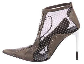 Christian Dior Mesh Ankle Boots