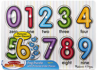 Melissa & Doug NEW See Inside Numbers Peg Puzzle 10pce