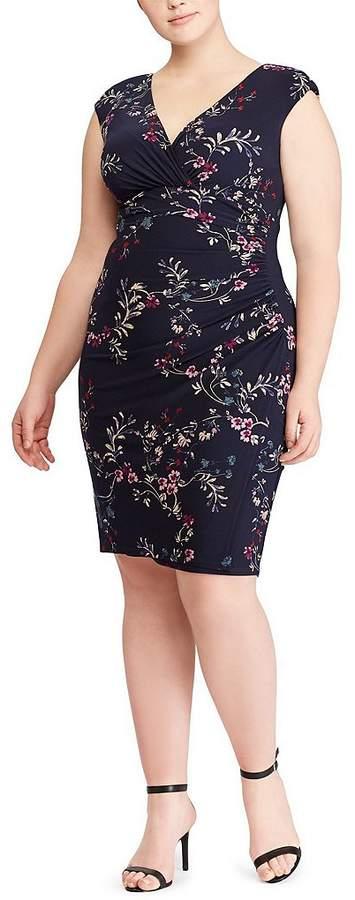 Lauren Ralph Lauren Plus Size Floral Jersey Dress