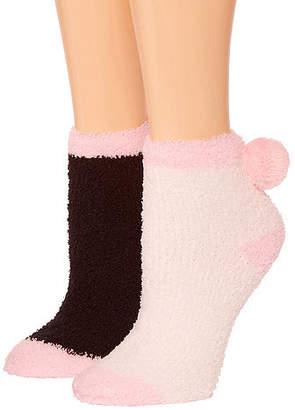 Asstd National Brand Snuggle Feet 2 Pair Low Cut Socks - Womens