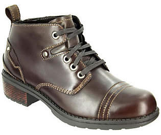 Eastland Leather Lace-up Ankle Boots - Overdriv