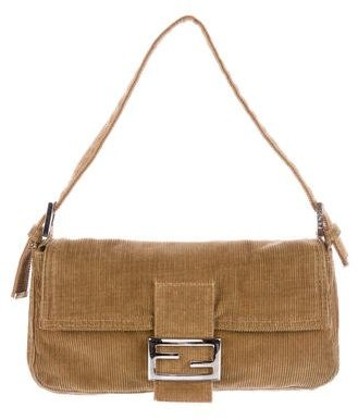 Fendi Corduroy Baguette Bag