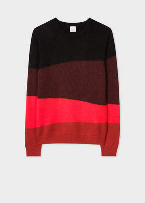 Paul Smith Men's Red Striped Wool-Blend Sweater
