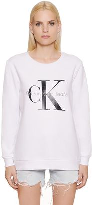 True Icon Printed Cotton Sweatshirt $120 thestylecure.com