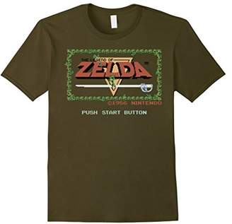 Nintendo Legend of Zelda Classic NES Title Screen T-Shirt