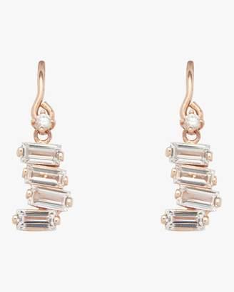 Suzanne Kalan Kalan By White Topaz Rose Gold Drop Earrings