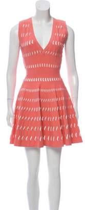Alaà ̄a Fit and Flare Sleeveless Dress Pink Alaà ̄a Fit and Flare Sleeveless Dress