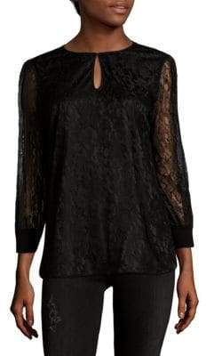 Lafayette 148 New York Kelsey Embroidered Lace Blouse