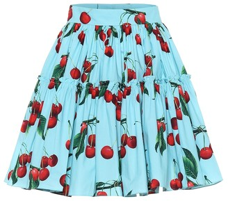 Dolce & Gabbana Exclusive to Mytheresa cherry printed cotton miniskirt