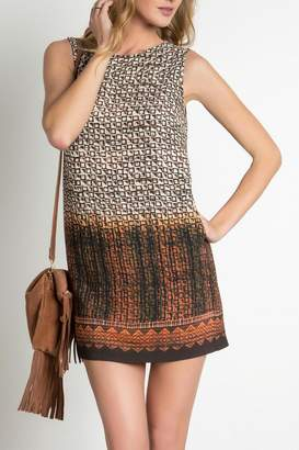 Urban Touch Printed Shift Dress