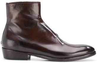 Silvano Sassetti almond toe ankle boots