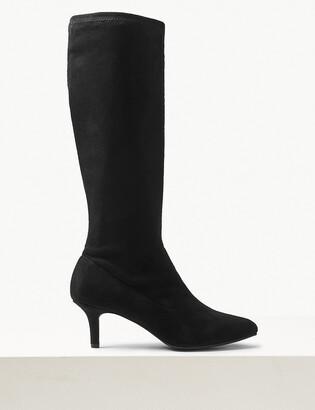 Marks and Spencer Kitten Heel Knee High Boots