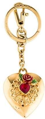 Dolce & Gabbana Embellished Heart Keychain