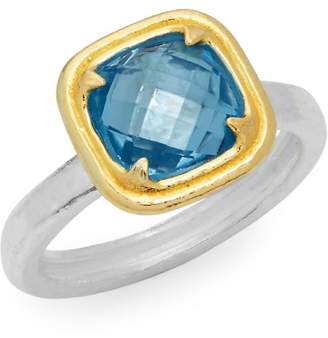 Gurhan Women's Blue Topaz and Sterling Silver Solitaire Ring