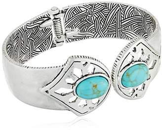 The Sak Stone Hinge Cuff Bracelet