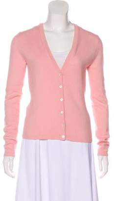 Michael Kors Cashmere Button-Up Cardigan Pink Cashmere Button-Up Cardigan