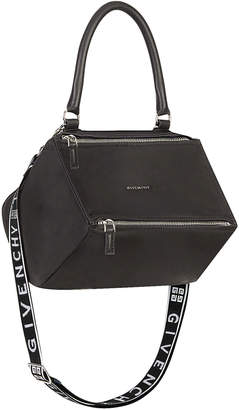 Givenchy Small Logo Strap Pandora in Black | FWRD
