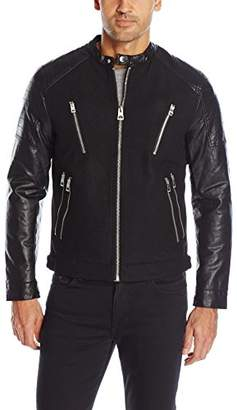 GUESS Men's Wool Quilted Jacket