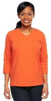 Denim & Co. Essentials Perfect Jersey 3/4 Sleeve Top