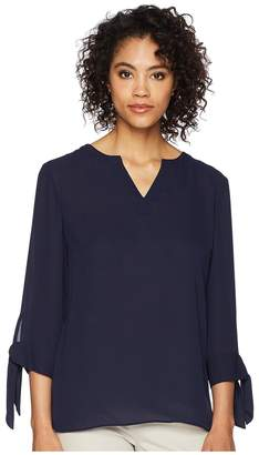 Tahari ASL Blouse with Tie Sleeves Women's Clothing