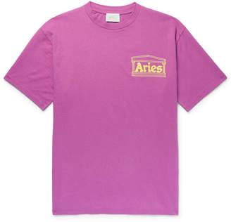 Aries Logo-Print Cotton-Jersey T-Shirt