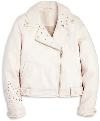 Aqua Girls' Studded Faux-Leather Moto Jacket, Big Kid - 100% Exclusive