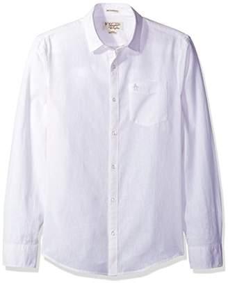 Original Penguin Men's Long Sleeve Cotton Linen CHM