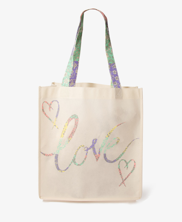 Forever 21 Floral Love Shopper's Tote