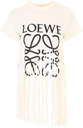 Loewe Logo Fringed T-shirt