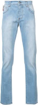 Isaia straight leg stonewash jeans