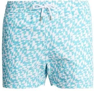 Frescobol Carioca - Sports Triangulos Print Swim Shorts - Mens - Blue