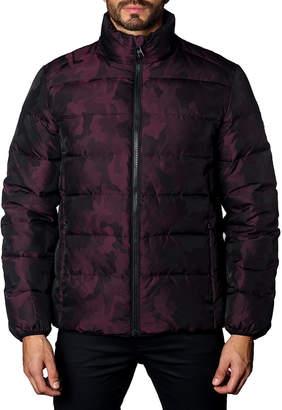 Jared Lang Men's Geneva 2B Heavy Camo Quilted Puffer Jacket